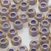3mm圓管日本珠黃玉內鑲不透明薰衣草色--10g