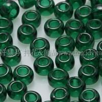 3mm圓管日本珠透明翡翠綠色--10g