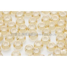 3mm圓管日本珠黃水仙內鑲不透明白色--10g