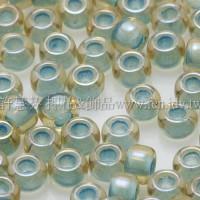3mm圓管日本珠彩虹黃水晶內鑲海洋泡泡色--10g
