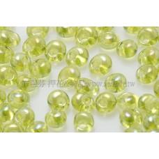 3mm包包日本珠-透明彩虹萊姆綠色-10g
