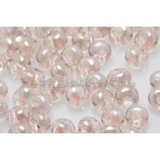 3mm包包日本珠-透明彩虹水蜜桃色-10g
