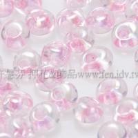 3mm包包日本珠-透明彩虹芭蕾粉紅色-10g