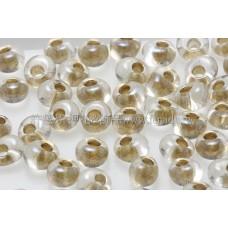 3mm包包日本珠-七彩水晶光內鑲金色-10g