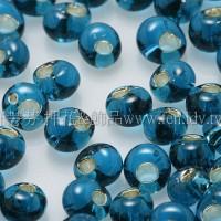 3mm包包日本珠-藍綠灌銀色-10g