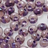 3mm包包日本珠-水蜜桃光內鑲不透明紫色-10g