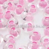 3mm包包日本珠-水晶內鑲不透明奶油粉紅色-10g