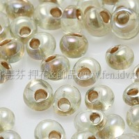 3mm包包日本珠-黃水仙透明彩虹金色-10g