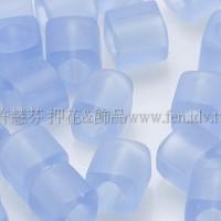 4mm方管日本珠透明霧面天藍色--10g