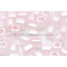 4mm方管日本珠斯里蘭卡珠光純真粉紅色--10g