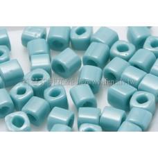 4mm方管日本珠-不透明藍綠松石色-10g