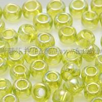 4mm日本珠-透明彩虹萊姆綠色-10g