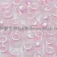 4mm日本珠-透明彩虹芭蕾粉紅色-10g