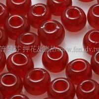 4mm日本珠-透明深石榴紅色-10g