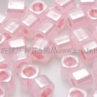 3mm方管日本珠斯里蘭卡珠光純真粉紅色--10g