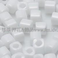 3mm方管日本珠不透明雪白色--10g
