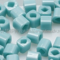 3mm方管日本珠不透明藍綠松石色--10g