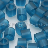 3mm方管日本珠透明霧面藍綠色--10g
