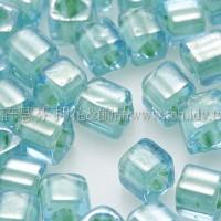 3mm方管日本珠水藍內鑲黃水仙色--10g