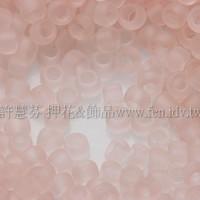 1.5mm日本珠-透明霧面水蜜桃色-5g