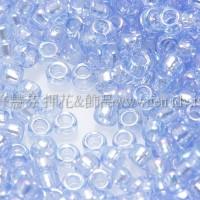 1.5mm日本珠-透明彩虹天藍色-5g