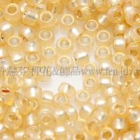 1.5mm日本珠-牛奶黃玉內鑲金色-5g