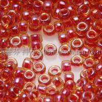 1.5mm日本珠-黃玉彩虹內鑲紅酒色-5g