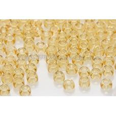 2mm日本珠透明-金菊色--10g