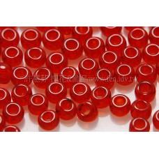 2mm日本珠透明-寶石紅色--10g
