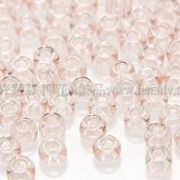2mm日本珠透明-霧玫瑰色--10g