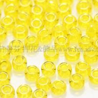 2mm日本珠透明-黃色--10g