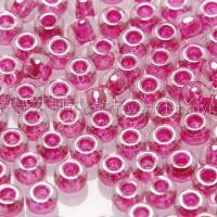 2mm日本珠透明-珠光紫粉紅色--10g
