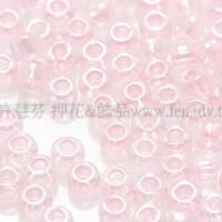 2mm日本珠透明-珠光粉紅色--10g