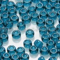 2mm日本珠透明-濃孔雀藍色--10g