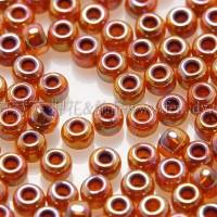 2mm日本珠透明-七彩珠光深蜂蜜色--10g