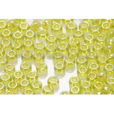 2mm日本珠透明-七彩蘋果黃綠色--10g