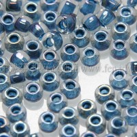 2mm日本珠透明-七彩蔚藍色--10g