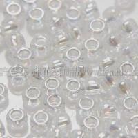 2mm日本珠透明-七彩水晶色--10g