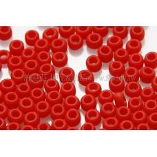 2mm日本珠不透明-胭脂紅--10g