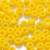 2mm日本珠不透明-鮮黃色--10g