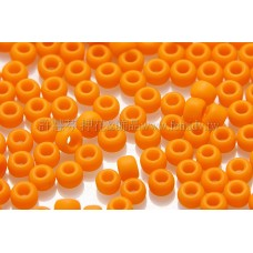 2mm日本珠不透明-豔橙色--10g