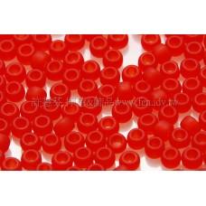 2mm日本珠霧面半透明-豔紅色--10g