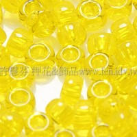 3mm日本珠透明鮮黃色--10g