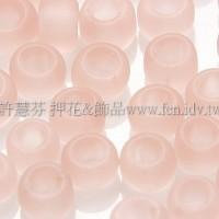 4mm日本珠-霧面柔光水蜜桃色-10g