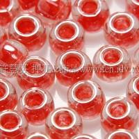 4mm日本珠-珠光玻璃內鑲西瓜紅色-10g