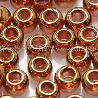 4mm日本珠-茶水晶玻璃-可可金色-10g