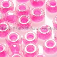 4mm日本珠-玻璃內鑲螢光桃粉紅色-10g