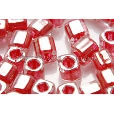 4mm方管日本珠珠光玫瑰紅色--10g