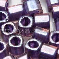 4mm方管日本珠粉光紫藤色--10g