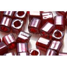 4mm方管日本珠珠光玫瑰紅酒色--10g